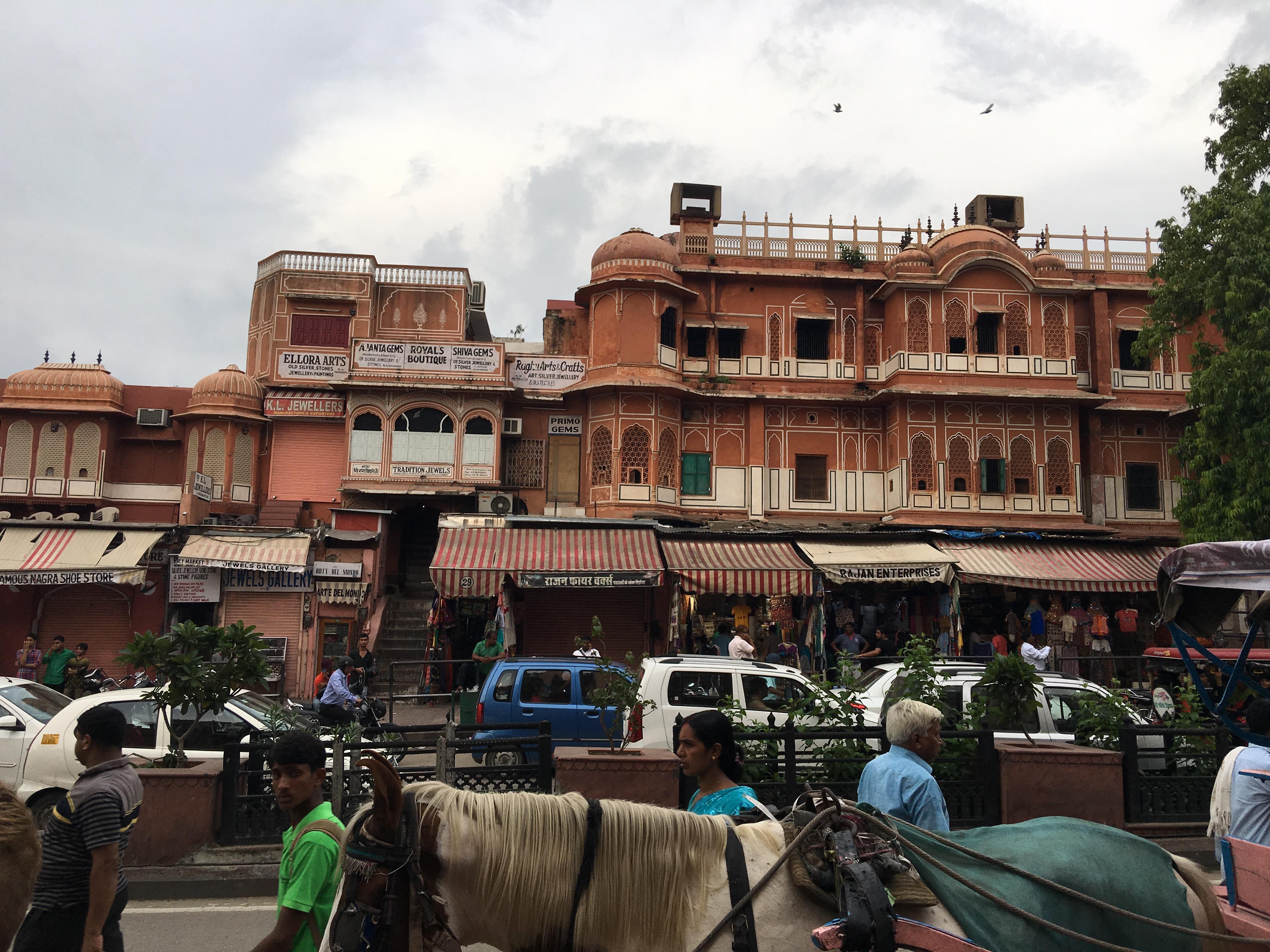 Typische Jaipur-Architektur...