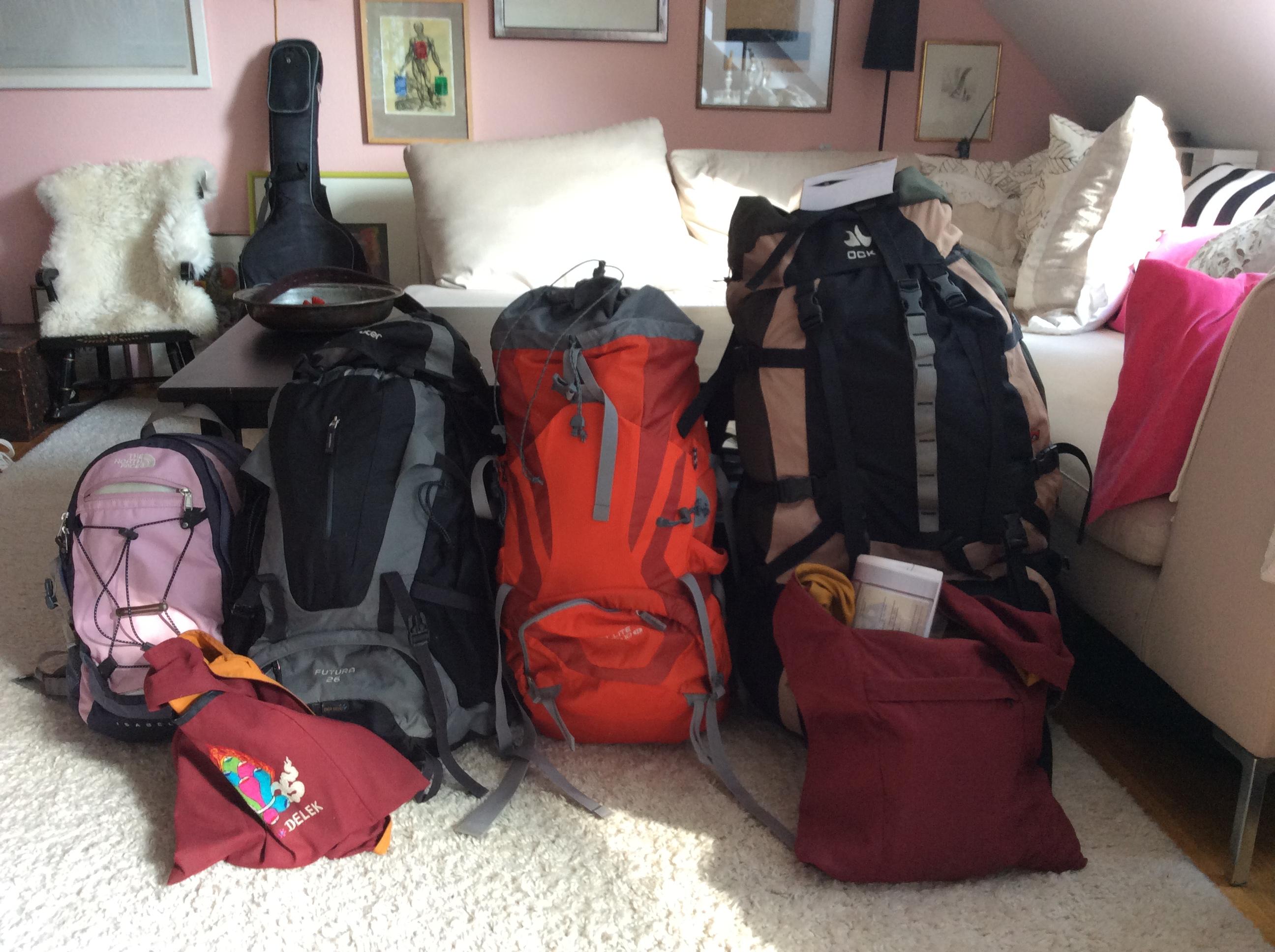 Nur 28 kg Gepäck! Cool!
